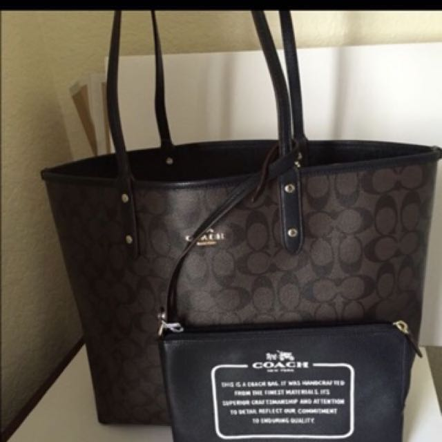 852e9024d7 Authentic Coach Reversible Tote Bag