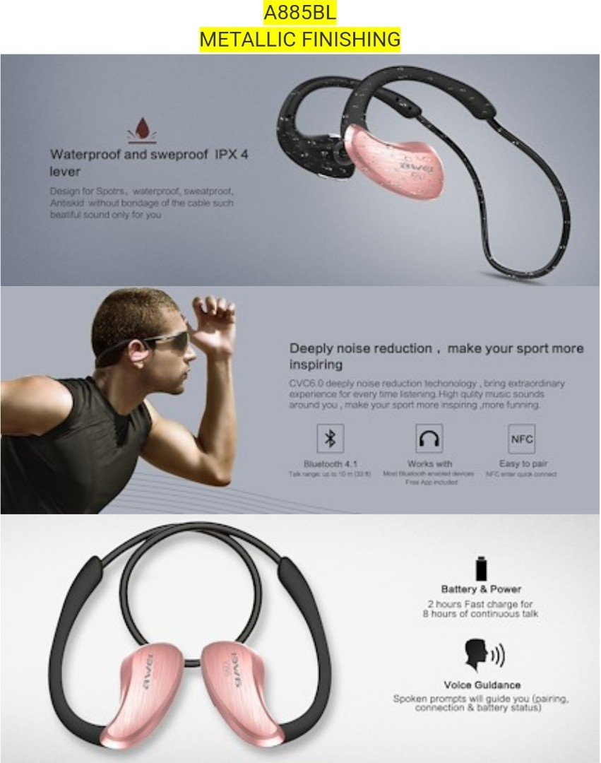 Awei Wireless Sport Earphones Electronics Audio On Carousell Original A920bl Bluetooth Exercise Stereo Noise Reduction Earbuds Build In Microphone Photo