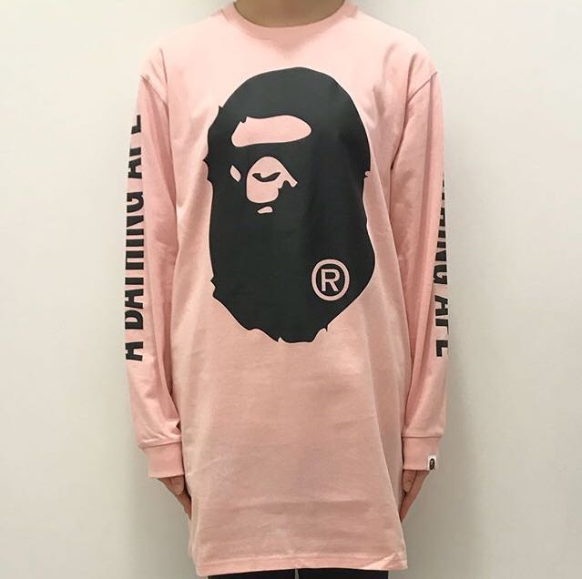 1d277505 BAPE BIG APE HEAD L/S TEE ONEPIECE, Women's Fashion, Clothes, Tops ...