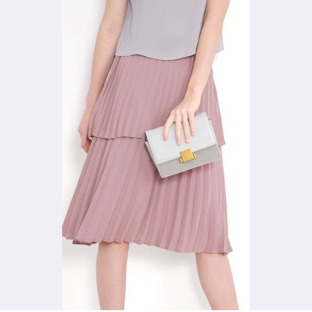 9605e19f4 Belle Tiered Pleated Skirt - Mauve, Women's Fashion, Clothes, Dresses &  Skirts on Carousell
