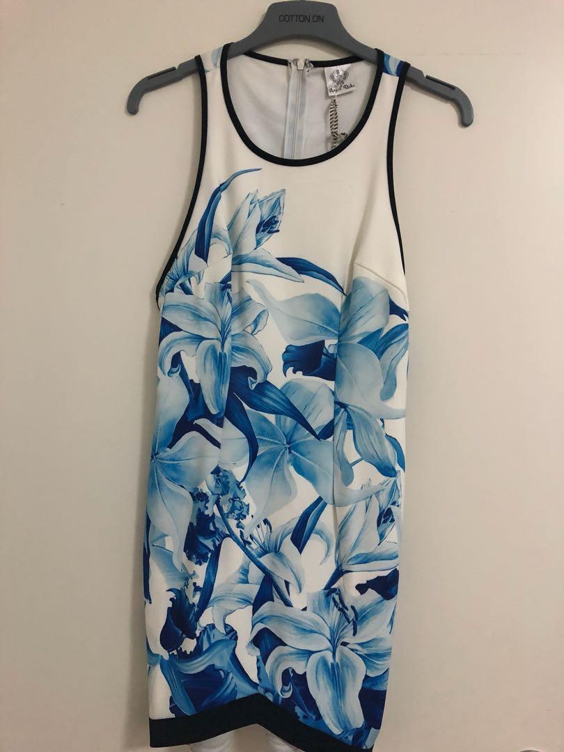 Blue & White Floral Dress Angel Biba 8