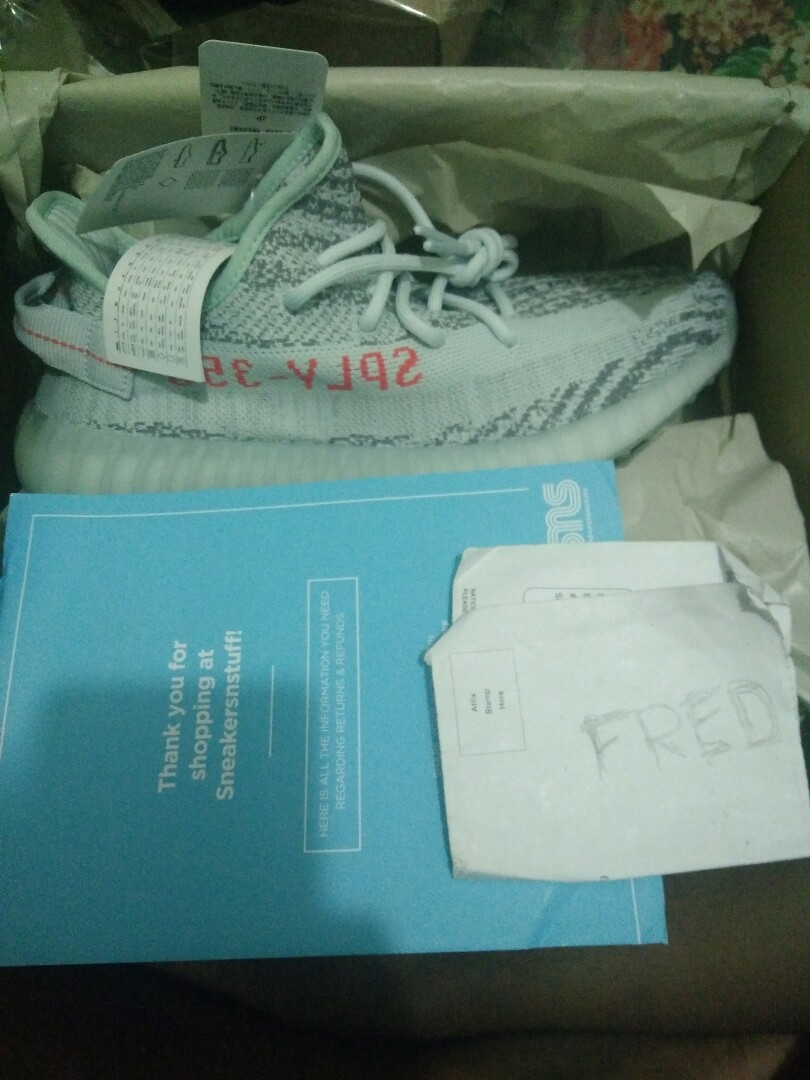 various colors a7fdc e3540 BNIB Yeezy Blue tint US9 From sns, Men's Fashion, Footwear ...
