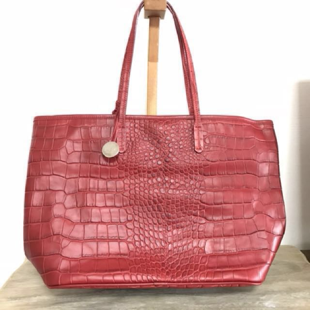5bca396d5eac8 Brand new Furla leather crocodile embossed print Large Tote carryall ...
