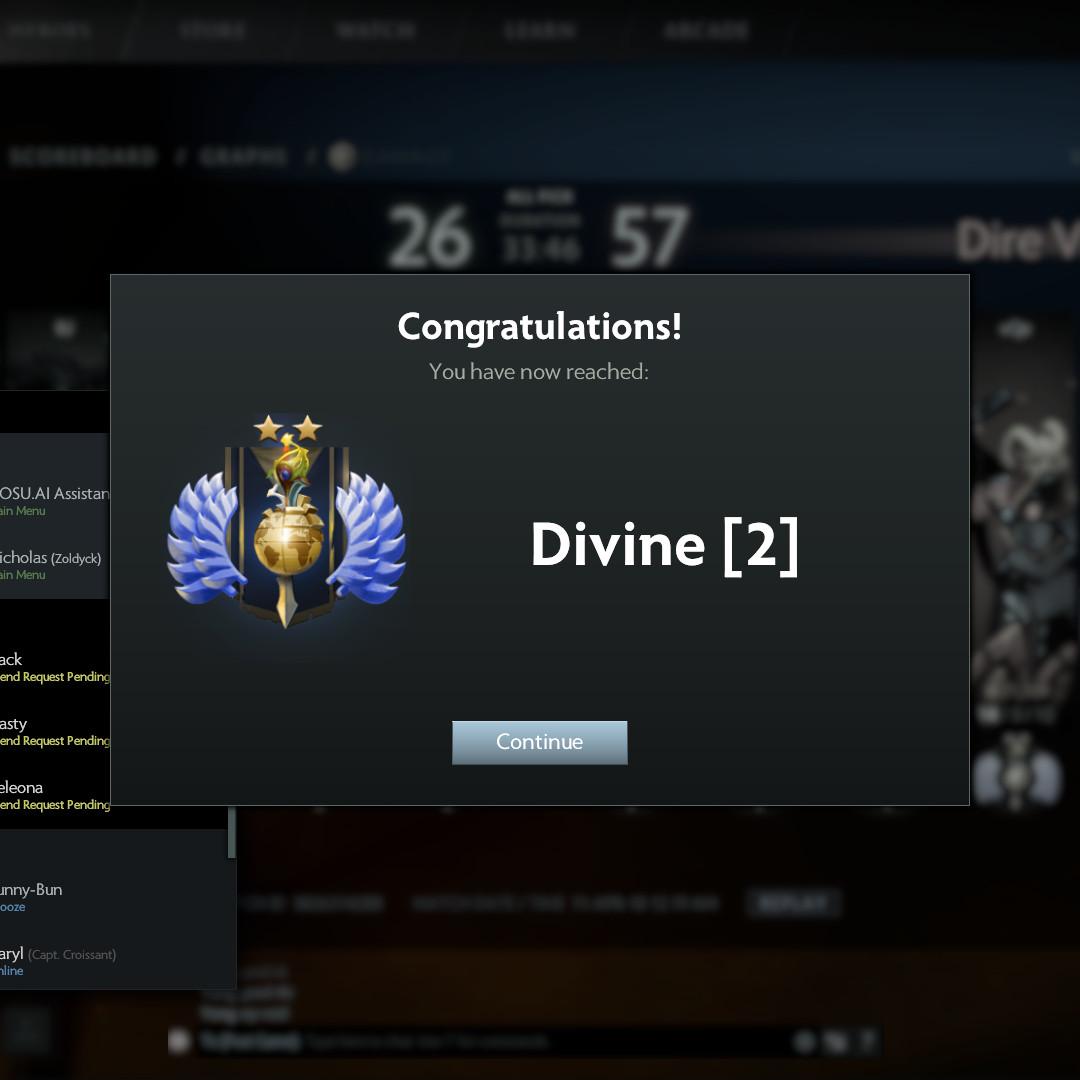 Divine 2 Account [ Dota 2 | Steam ], Toys & Games, Video