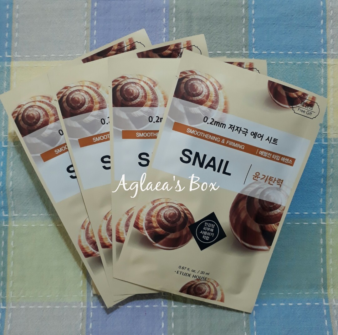 Etude House 02 Therapy Air Mask Snail Preloved Health Beauty 3 Pcs Skin Bath Body On Carousell