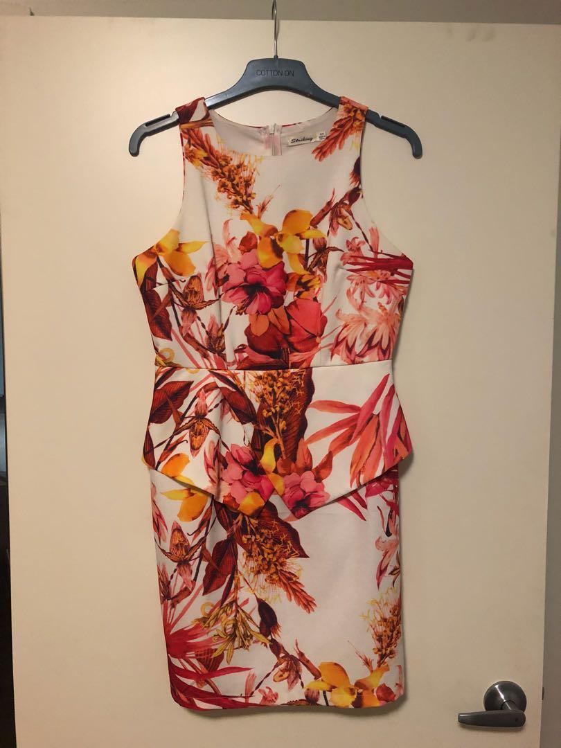 Floral Peplum Dress 8