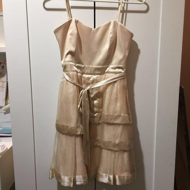 Forever New Champagne Dress