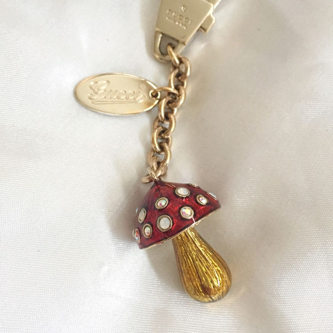 56f1d623b3ba Gucci Bag Charm - Garden Toadstool, Luxury, Accessories on Carousell