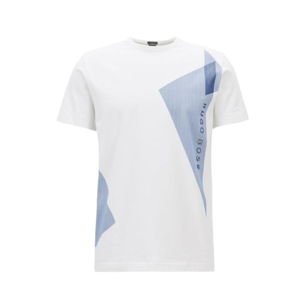 c3e968b7762 HUGO BOSS Stretch-cotton T-shirt with logo artwork