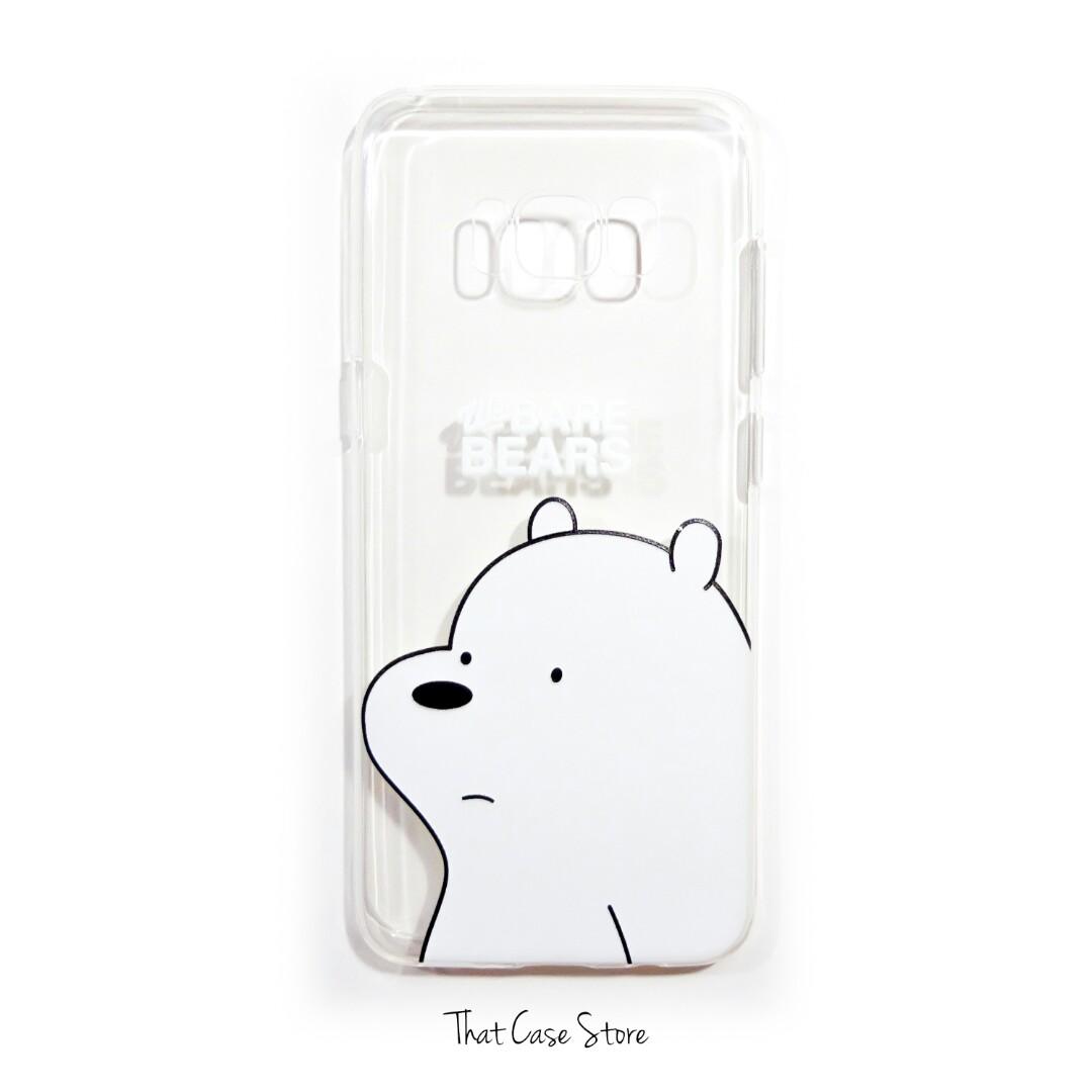 reputable site 08591 4c1db INSTOCK Samsung S8 We Bare Bears Ice Bear Phone Cover