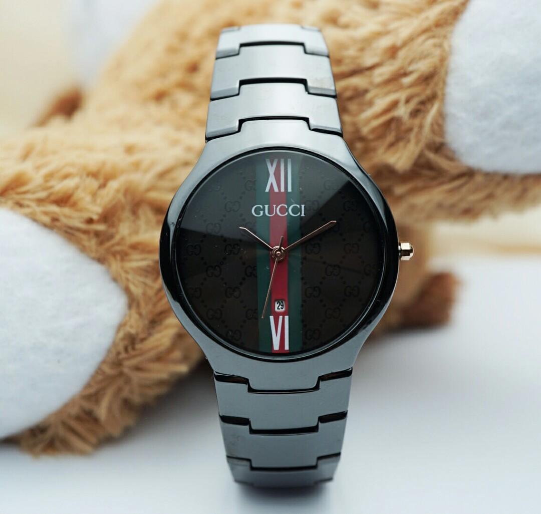 Jam tangan wanita Gucci full keramik hitam tanggal, Women's Fashion, Women's Watches on Carousell