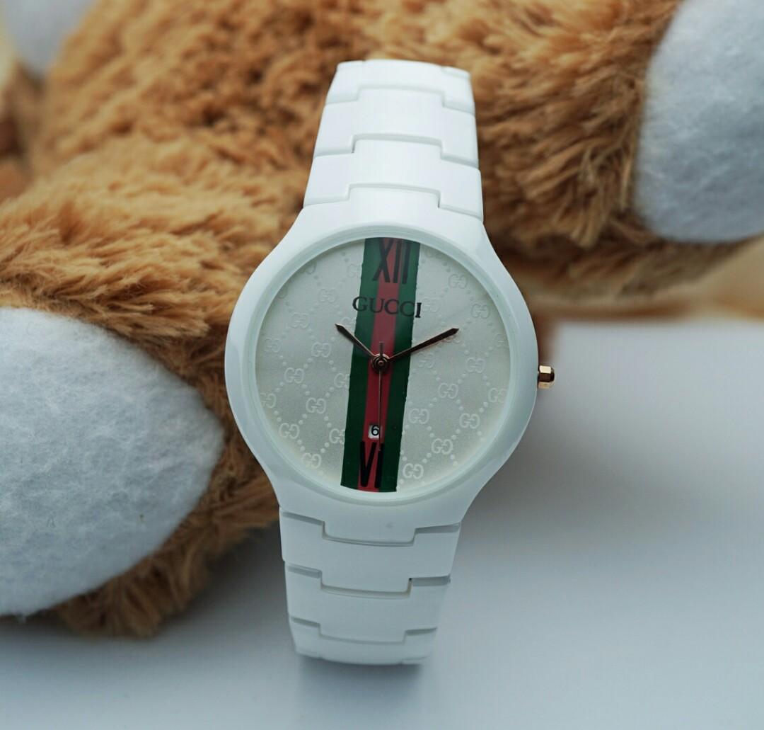 Jam tangan wanita Gucci Full Keramik putih, Women's Fashion, Women's Watches on Carousell