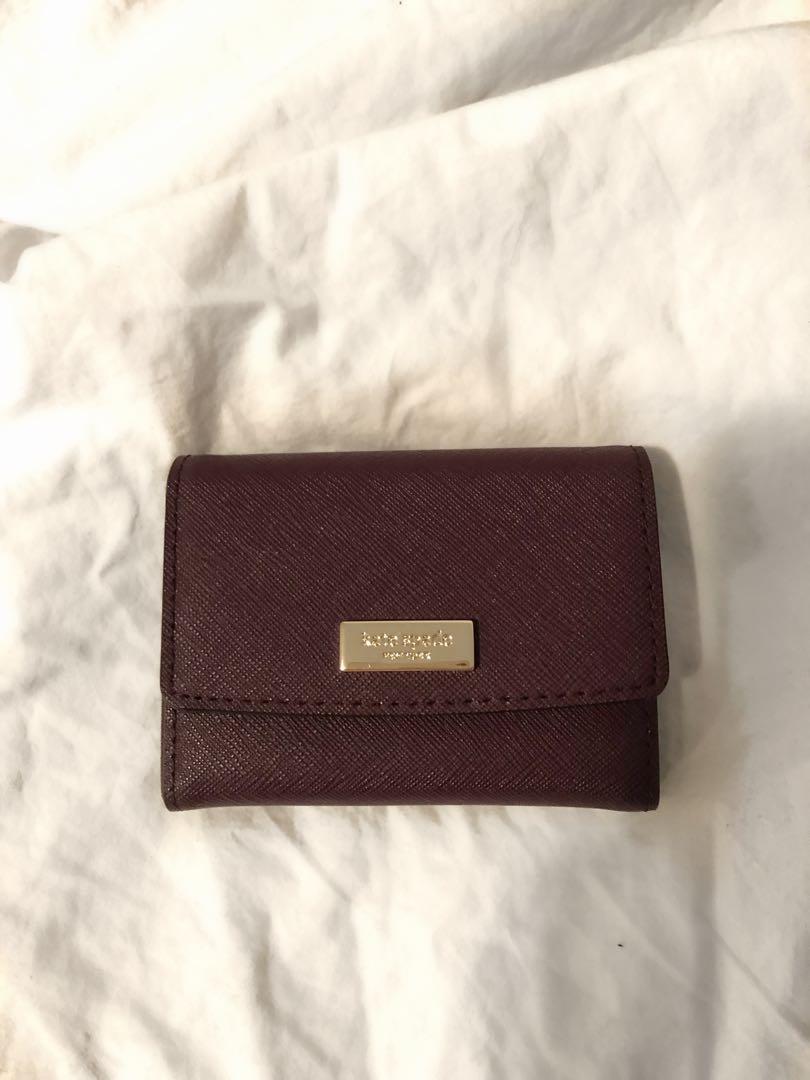 KATE SPADE - Genuine Leather Snap Wallet