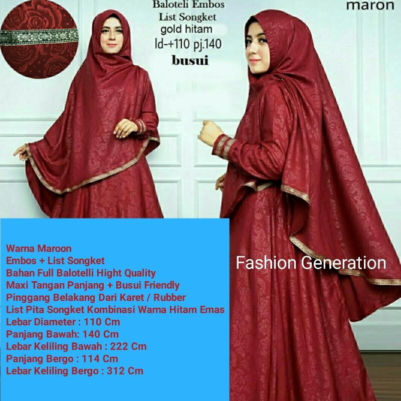 Khadeja Hanna L Fashion Busana Muslim Wanita Dewasa L Setelan Hijab
