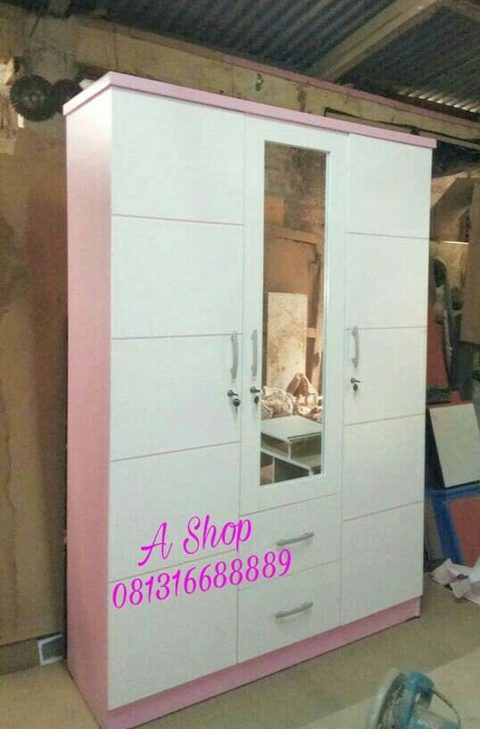 Lemari Pakaian Pink Minimalis Murah Gratis Ongkir Jabotabek Perabotan Rumah Di Carousell