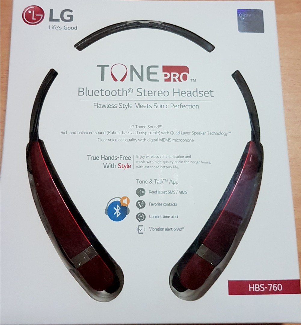 d63ca2805f0 LG Tone Pro Bluetooth Stereo Headset, Electronics, Audio on Carousell