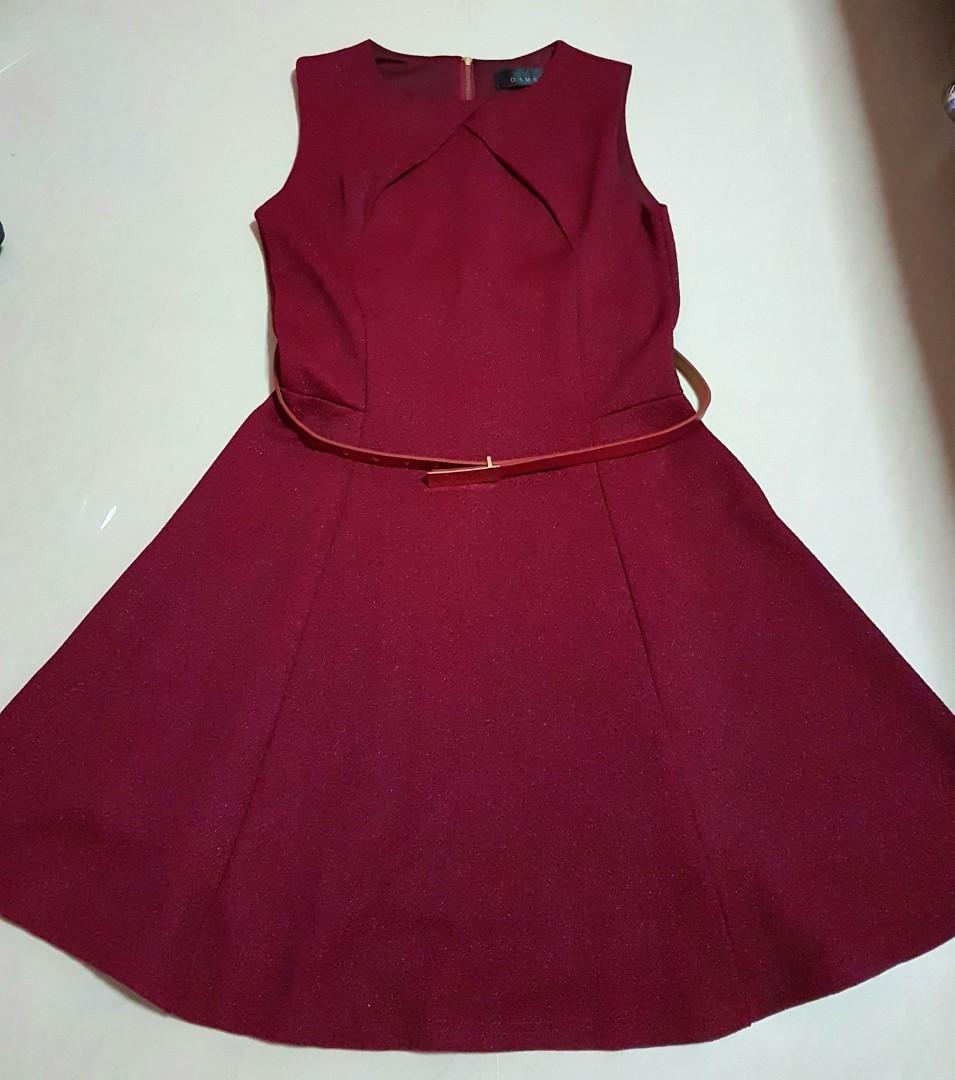 New Maroon Dress