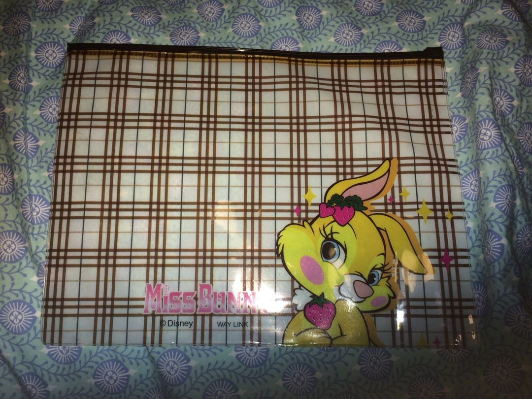 Miss bunny cosmetic pouch