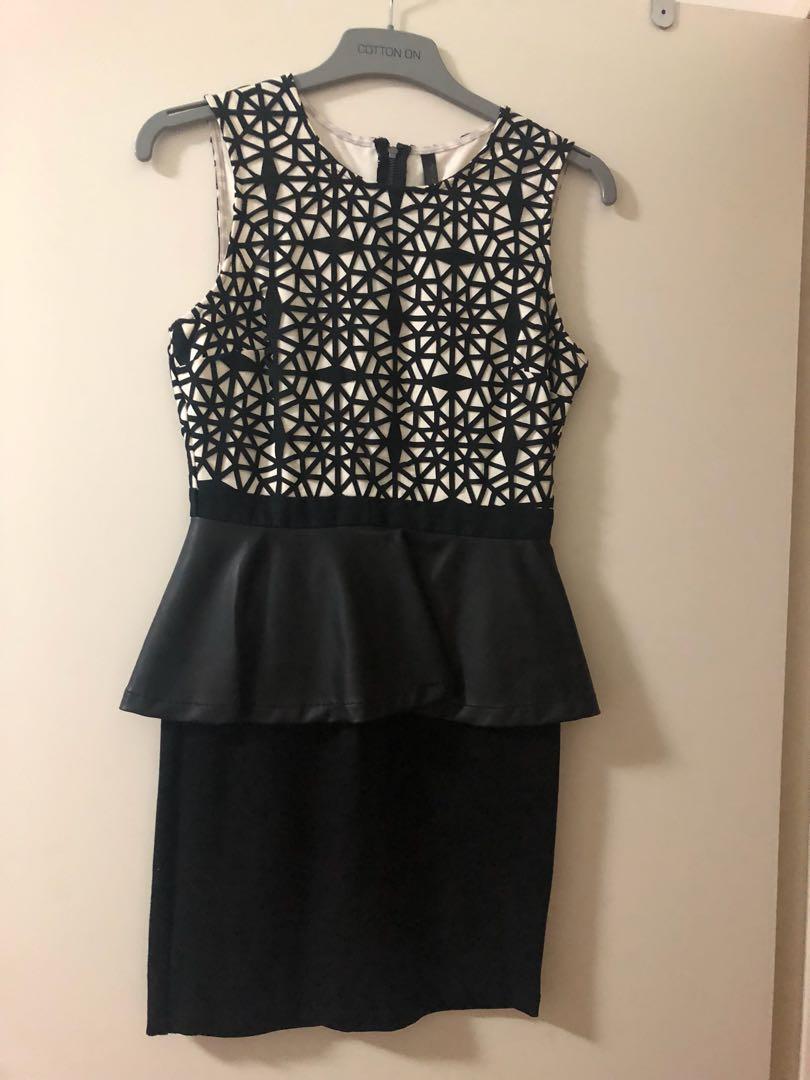 MISS SHOP PEPLUM DRESS WORN ONCE 8
