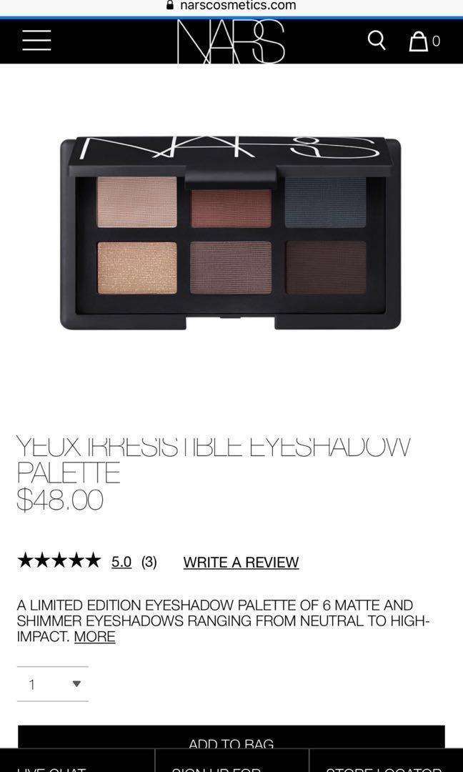 NARS Yeux Irresistible Eyeshadow Palette
