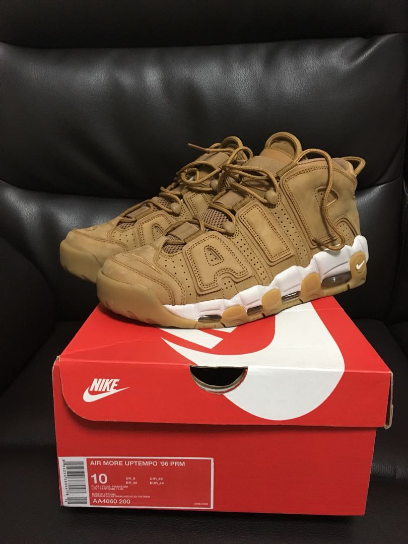 e84cab3dee Nike Air More Uptempo Premium Flax, Men's Fashion, Footwear on Carousell