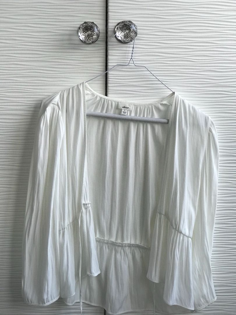 Off White Open Blouse