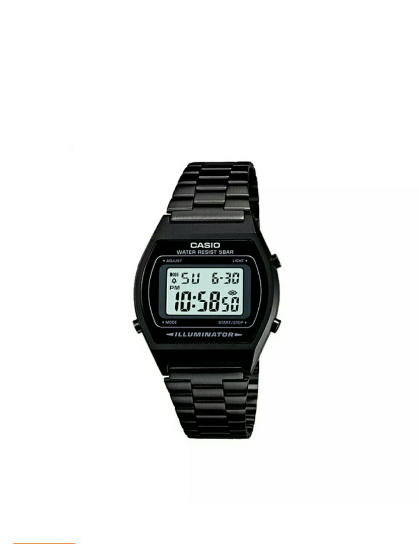 a19ed33709c3 Original limited edition ALL BLACK stainless steel casio watch ...