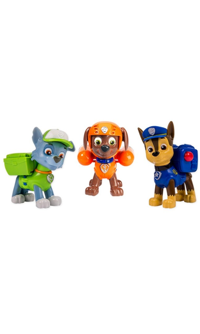 Po Paw Patrol Action Pack Pups 3 Pack Chase Rocky Zuma