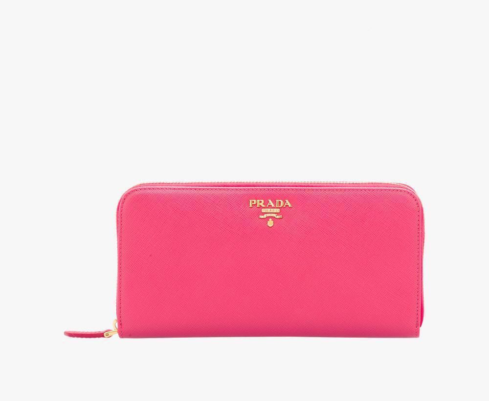 d5c1cb977a7c Prada Saffiano Leather Wallet (Peony Pink), Women's Fashion, Bags ...