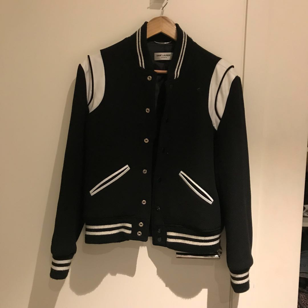 (PRICE DROP)Authentic Saint Laurent Teddy Jacket in Black Wool
