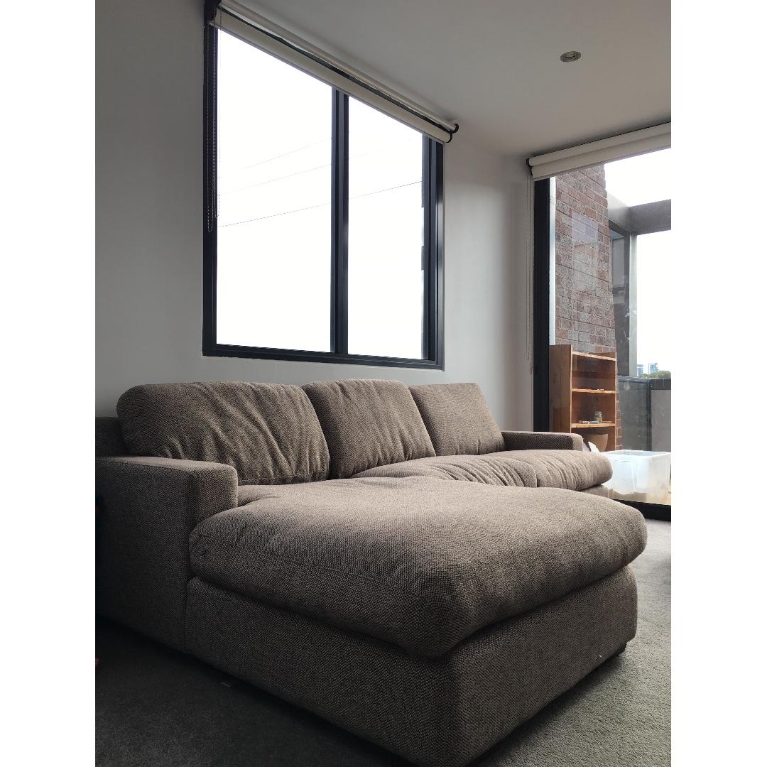Pure Down-Stuffed Sofa (L Shape, detachable into 3 parts)