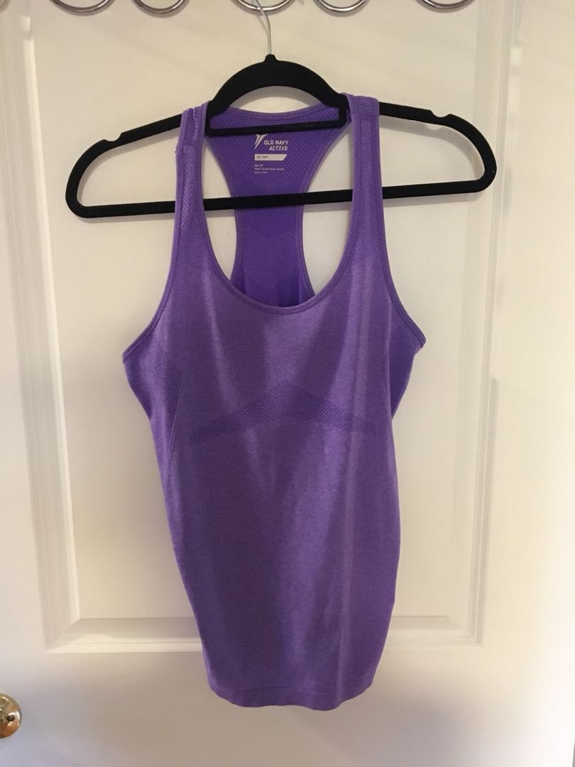 Purple dry fit workout tank top