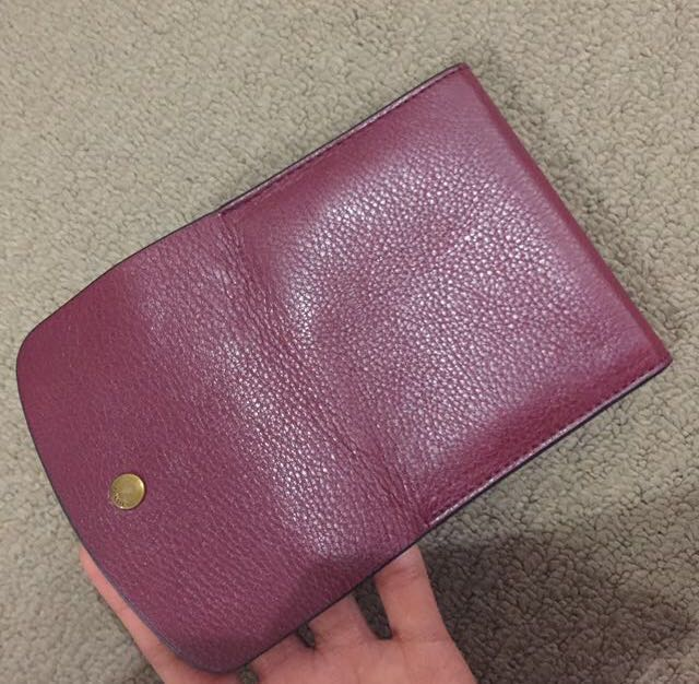 Red Fossil Wallet