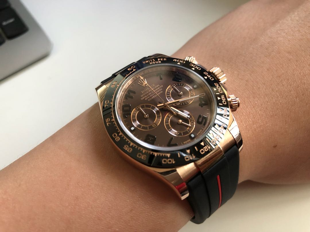 Rolex Daytona Everose Gold Chocolate Dial Luxury Watches On Carousell