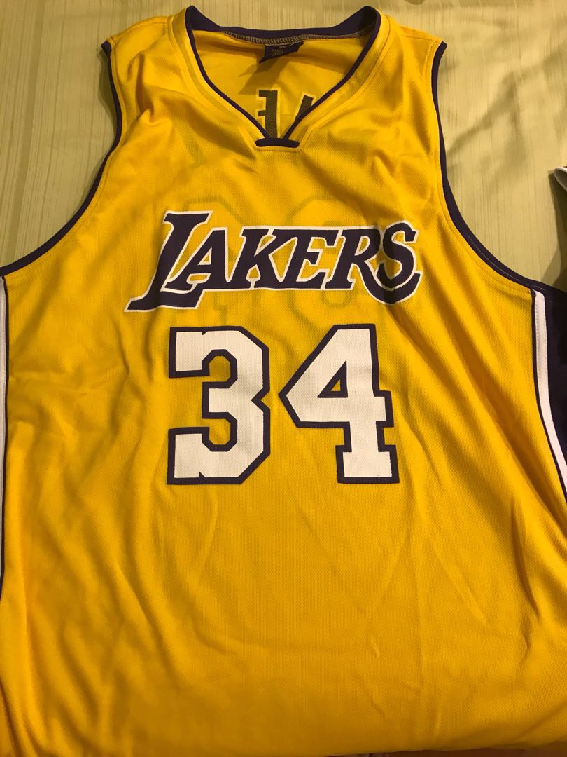 new product 04890 91673 Shaquille o'neal Lakers Jersey
