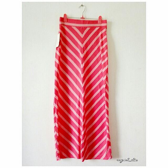 6426ab1a630 SONOMA Chevron Striped LIFE+STYLE Maxi Skirt (KOHL S) NWT