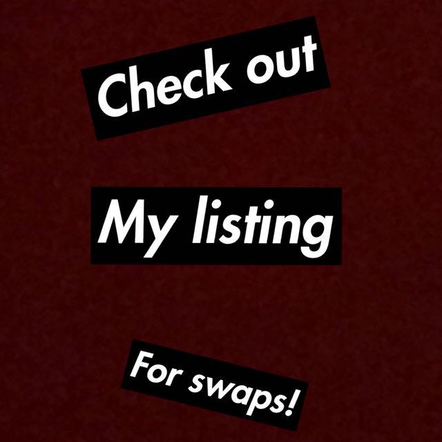 Swap or buy!