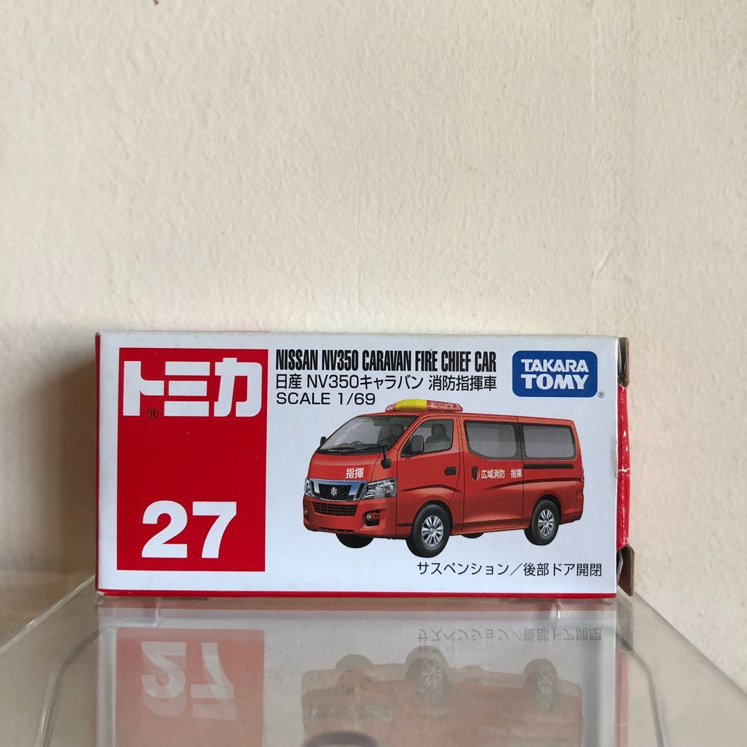 Tomica Nissan Nv350 Caravan Fire Chief Car Toys Games Others On