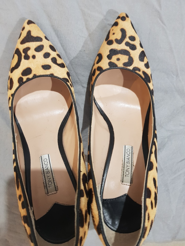 Tony Bianco Leopard Heels 8.5