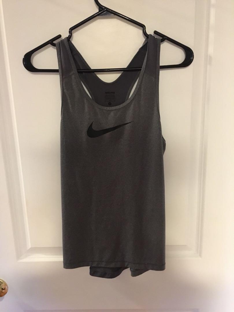 Women's grey medium Nike top