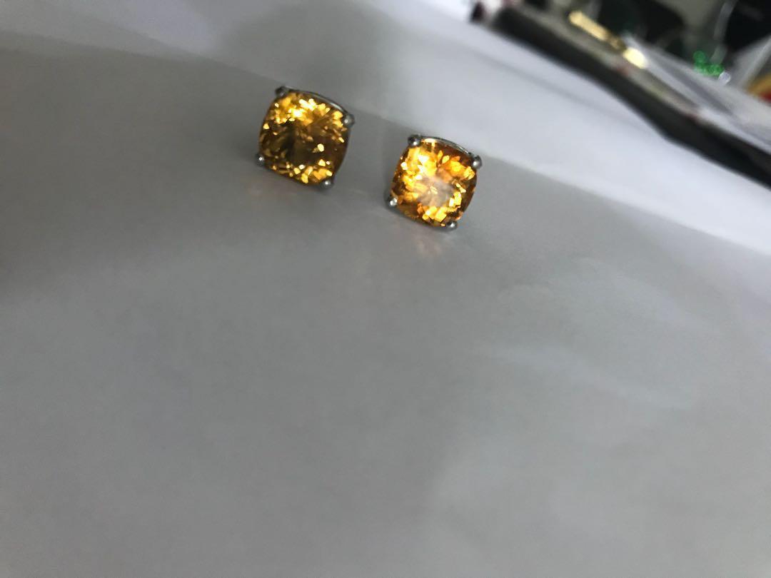 Yellow Stone Ear ring 耳環