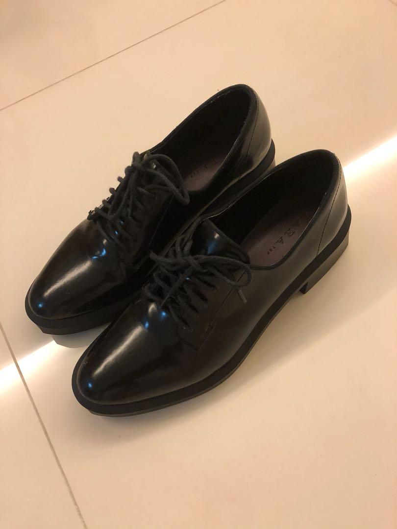 Zara Woman Oxford Shoes, Women's