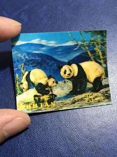 神秘國度不丹 1970罕有靚靚異質郵票 大熊貓立體郵票
