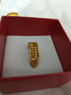 916 22k Gold abacus Ring