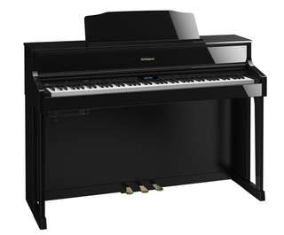 Roland HP605 Digital Piano w/ Stand, Polished Ebony
