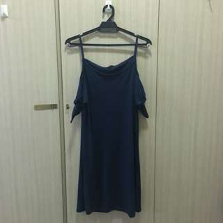 Dark Blue Straight cut dress