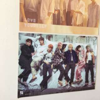 BTS Blood Sweat and Tears Poster & BTS Love Yourself Poster