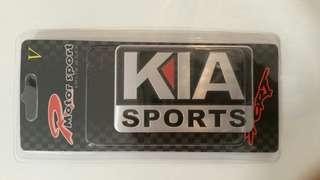 Kia stick-on label