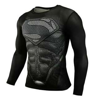 Superman MMA Fitness Compression suitable for gym as we Long Sleeve 3D Superman