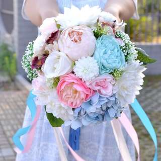 My angel flowery bridal bouquet